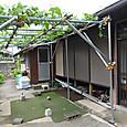 雨戸を閉め休憩所も一時片付けた小菜園事務所